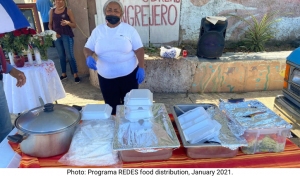 Photo: Programa REDES food distribution, January 2021.
