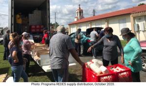 Photo: Programa REDES supply distribution, October 2020.