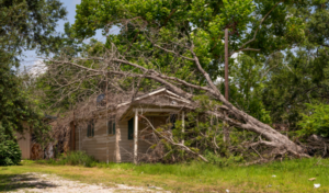 Residences in Sulphur, Louisiana are still severely damaged and under construction almost a year after back-to-back Hurricanes Laura and Delta swept through the area in August and October.