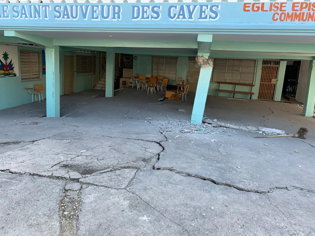 Damage caused by earthquake