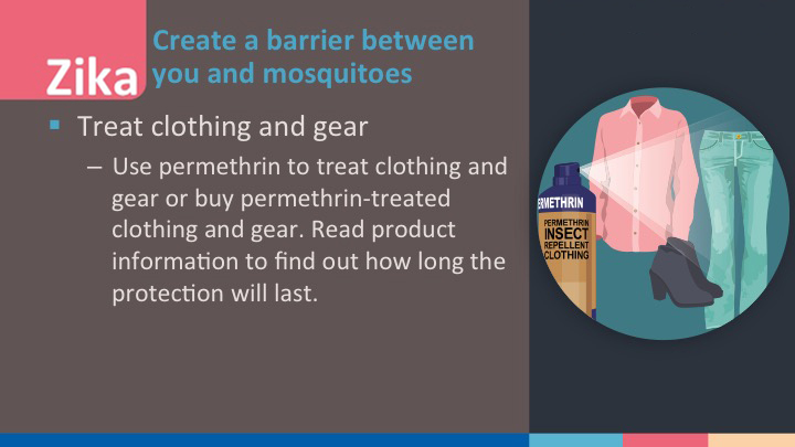 Zika - treat your clothes and gear