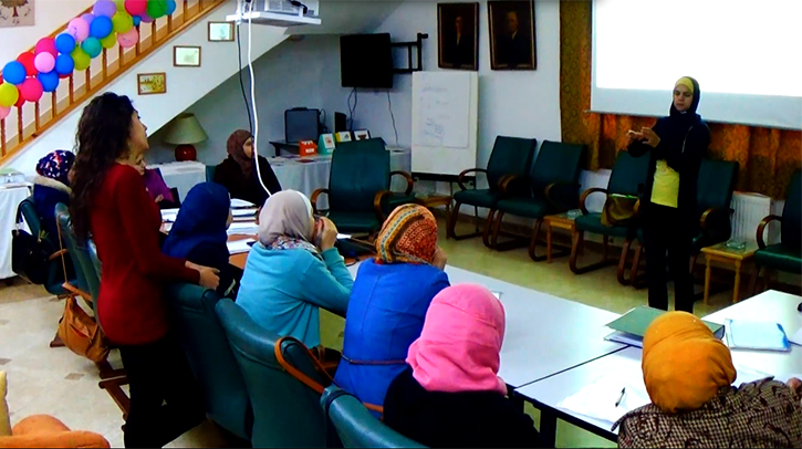 Adult Sign Language Training Class at Za'atari Disability Center