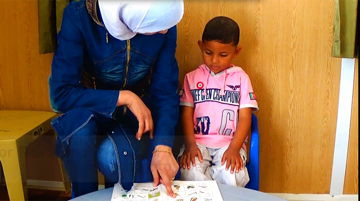 Rami Learning to Speak at Za'atari Disability Center