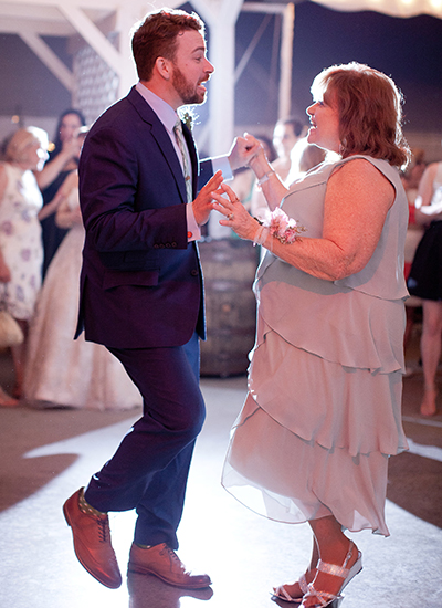 Chad and his mom dancing