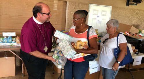 Bishop Morales in Puerto Rico credit Food for the Poor