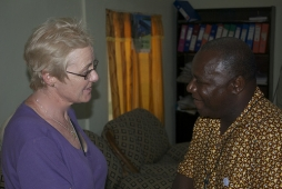 The Rev. Joy Daley (L) with Dean Jacob, Executive Director of the Anglican Diocesan Development and Relief Organization (ADDRO)